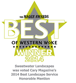 Cary Magazine Best of Western Wake -  Best Landscaping Service Honorable Mention